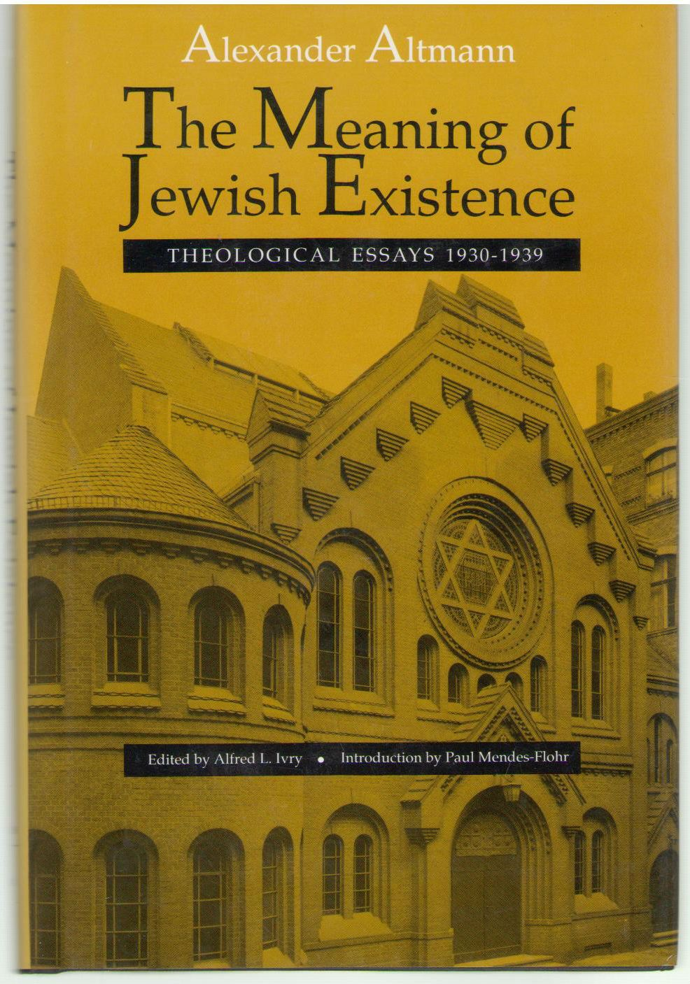 The Meaning of Jewish Existence: Theological Essays, 1930-1939 (The Tauber Institute Series for the Study of European Jewry), Altmann, Alexander