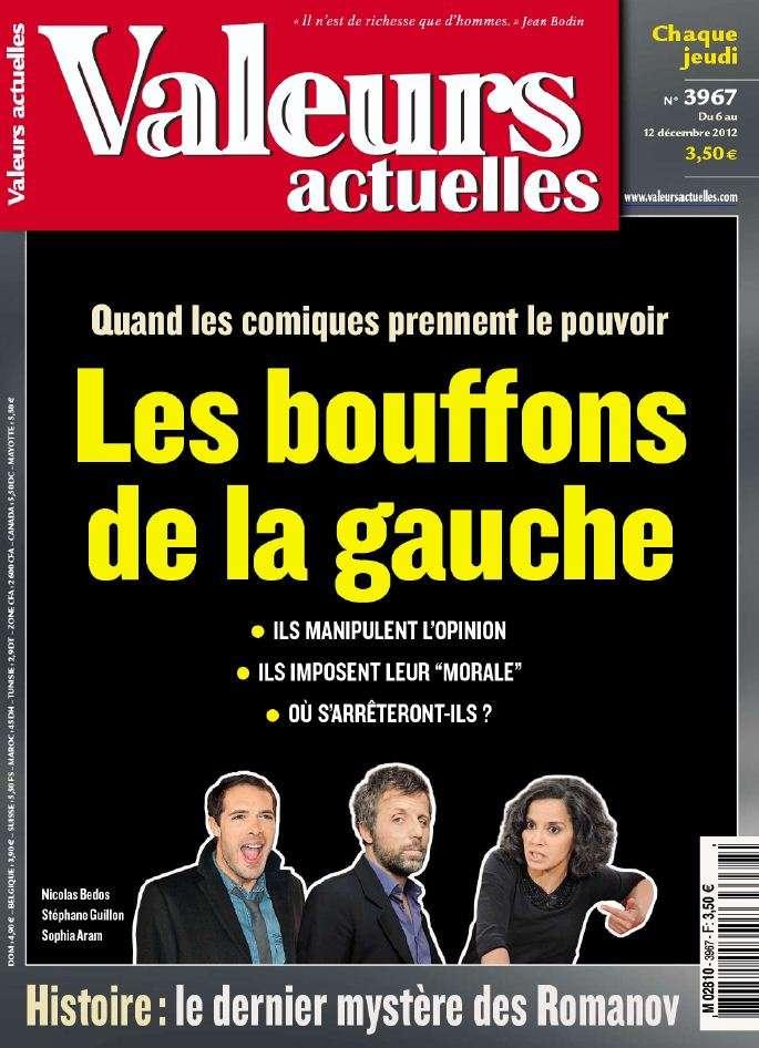 Valeurs Actuelles N°3967 du 6 au 12 Décembre 2012
