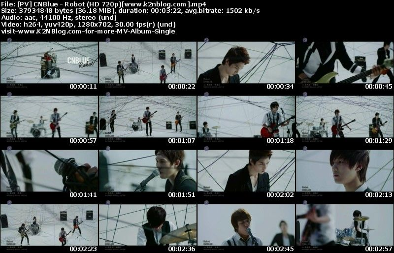 [PV] CNBlue - Robot (HD 720p Youtube)