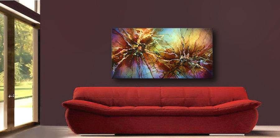 lang444_mix lang abstract painting modern contemporary art decor cert.